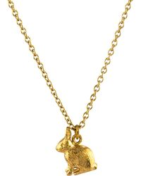Alex Monroe - 22ct Gold Plated Sterling Silver Sitting Bunny Pendant Necklace - Lyst