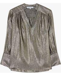 Gerard Darel - Liane Textured Blouse - Lyst
