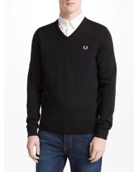 Fred Perry - Classic Tipped V-neck Sweater - Lyst