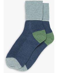 Brora - Colour Block Cashmere Socks - Lyst