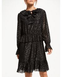 78431ac34fcd7 Somerset by Alice Temperley - Frill Metallic Detail Dress - Lyst