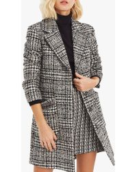 Oasis - Libby Check Coat - Lyst