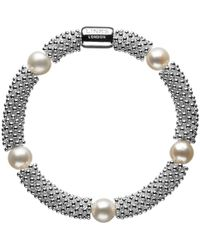 Links of London - Effervescence Star Sterling Silver Pearl Bracelet - Lyst