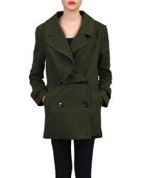 Jolie Moi - Asymmetric Front Coat - Lyst