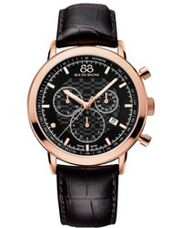88 Rue Du Rhone | 87wa154207 Men's Double 8 Origin Leather Strap Watch | Lyst