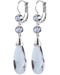 Dyrberg/Kern - Alecta Swarovski Crystal Teardrop French Hook Drop Earrings - Lyst