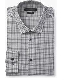 John Varvatos - Slim Fit Melange Check Dress Shirt - Lyst
