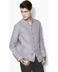 John Varvatos - Crinkled Stripe Shirt - Lyst