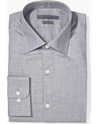 John Varvatos - Slim Fit Melange Dress Shirt - Lyst