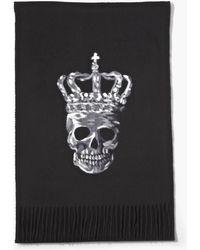 John Varvatos - Skull With Crown Scarf - Lyst