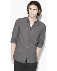 John Varvatos - Roll-up Sleeve Shirt - Lyst