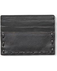 John Varvatos - Marble Stained Leather Pick Stitch Credit Card Case - Lyst