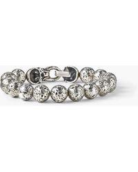 John Varvatos - Artisanal Silver Beaded Bracelet - Lyst