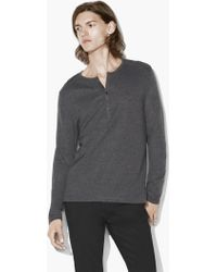 John Varvatos - Double-faced Henley - Lyst