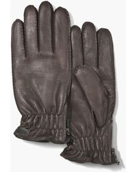 John Varvatos - Leather Gloves - Lyst