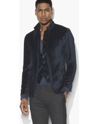 John Varvatos - Multi-button Velvet Jacket - Lyst