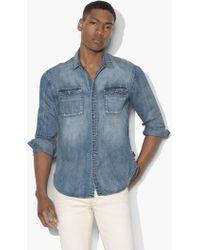 John Varvatos - Western Shirt With Snap Chest Pocket - Lyst