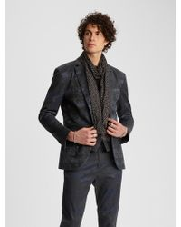 62c3c7706962d John Varvatos Suede Double-breasted Jacket in Blue for Men - Lyst