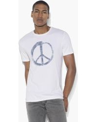 John Varvatos - Peace Symbol Graphic Tee - Lyst