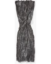 John Varvatos - Woven Muted Patterned Scarf - Lyst