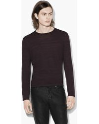 John Varvatos - Distorted Stripe Crewneck Sweater - Lyst
