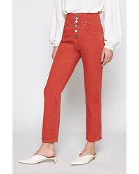 Joie - Laurelle High-waist Button Fly Jeans - Lyst