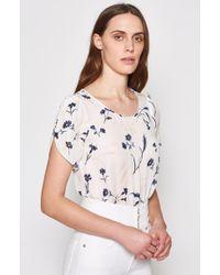 Joie - Wira Floral-print Silk Top - Lyst