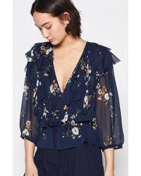 Joie - Arleyne Floral-printed Silk Top - Lyst
