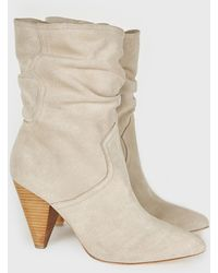 Joie - Gabbissy Slouchy Suede Mid-calf Boots - Lyst