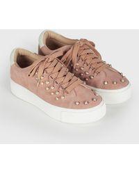 Joie - Handan Pearl Suede Sneaker - Lyst
