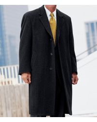 Jos. A. Bank - Traveler 3/4 Length Herringbone Topcoat Big & Tall Clearance - Lyst