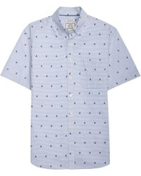 Jos. A. Bank - 1905 Collection Tailored Fit Button-down Sailboat Short-sleeve Sportshirt - Lyst