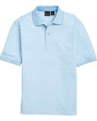 b8da415b A. Bank - Traveler Short Sleeve Traditional Fit Stipe Pique Polo Big And