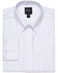 Jos. A. Bank - Traveler Collection Traditional Fit Button-down Collar Tattersall Dress Shirt - Lyst