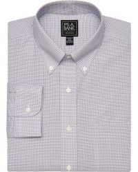 Jos. A. Bank - Traveler Collection Tailored Fit Button-down Collar Check Dress Shirt - Lyst