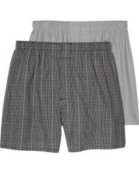 Jos. A. Bank - Plaid & Solid Woven Boxers, 2-pack - Lyst