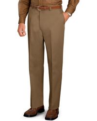 Jos. A. Bank - Traveler Collection Tailored Fit Flat Front Twill Pants - Lyst