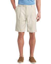 Jos. A. Bank - David Leadbetter Traditional Fit Pleated Front Performance Golf Shorts - Big & Tall - Lyst