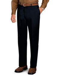 Jos. A. Bank | Traveler Collection Tailored Fit Flat Front Twill Pants | Lyst