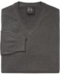 Jos. A. Bank - Traveler Collection Pima Cotton V-neck Sweater - Big & Tall - Lyst