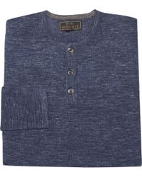 Jos. A. Bank - Reserve Collection Wool Blend Waffle Knit Henley Sweater - Lyst