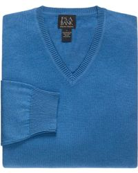 Jos. A. Bank - Signature Collection Pima Cotton V-neck Men's Sweater - Lyst