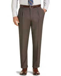 Jos. A. Bank - Traveler Collection Traditional Fit Pleat Front Washable Wool Dress Pants - Lyst
