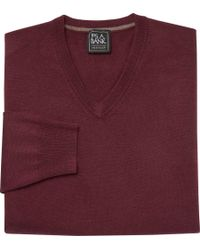 Jos. A. Bank - Traveler Collection Traditional Fit Merino V-neck Sweater - Lyst