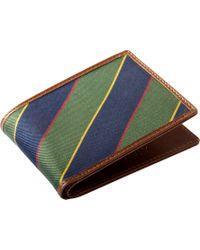 Jos. A. Bank - Jos.a.bank Green & Blue Stripe Bi-fold Wallet - Lyst