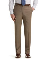 Jos. A. Bank - Traveler Collection Slim Fit Flat Front Dress Pants - Lyst