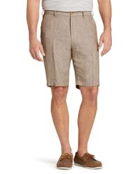 Jos. A. Bank - Reserve Collection Traditional Fit Linen Flat Front Shorts - Big & Tall - Lyst
