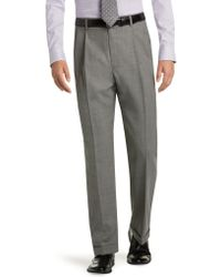 Jos. A. Bank - Executive Collection Traditional Fit Pleated Front Tic Weave Dress Pants Clearance - Lyst