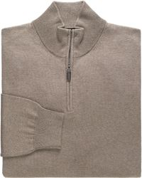 Jos. A. Bank - Signature Collection Pima Cotton Half-zip Men's Sweater - Lyst