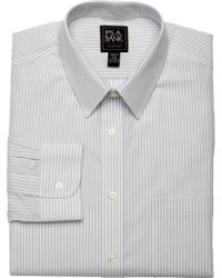Jos. A. Bank - Traveler Collection Slim Fit Point Collar Stripe Dress Shirt - Lyst